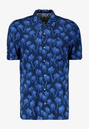 WITH ALLOVER PRINT - Shirt - indigo