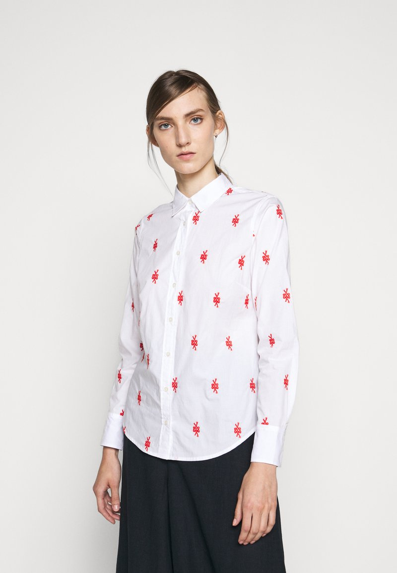 J.CREW - PERFECT KNOTS - Button-down blouse - white