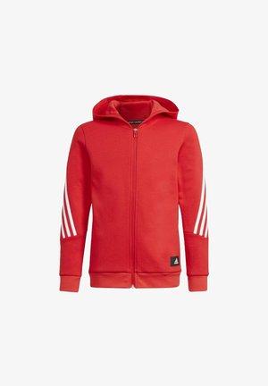 Sweater met rits - red