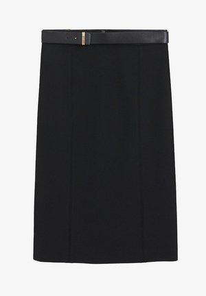 UNA - A-line skirt - schwarz