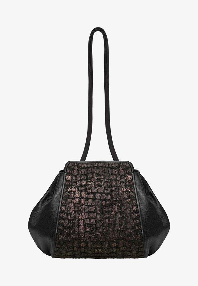 Handbag - midnight black torn