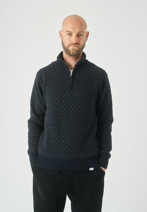 Zip-up sweatshirt - blue graphite