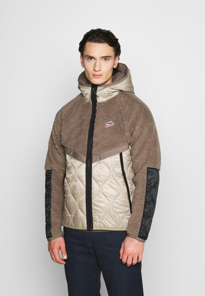 Nike Sportswear - WINTER - Winter jacket - olive grey/mystic stone/life lime