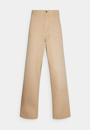 SINGLE KNEE PANT DEARBORN - Straight leg jeans - brown