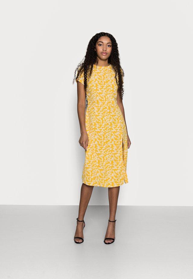 SUSTAINABLE MIDI TEA DRESS - Vestito estivo - yellow