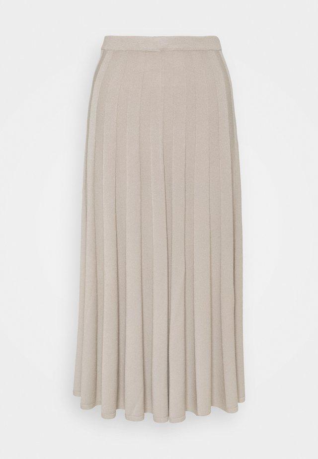 RUBY SKIRT - Áčková sukně - grey beige
