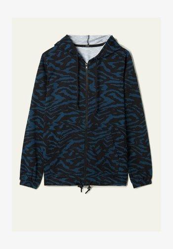 MIT REISSVERSCHLUSS UND TUNNELZUG - Zip-up sweatshirt -  blu grafite st.zebra