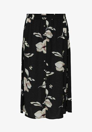 CURVY PRINT - A-line skirt - black