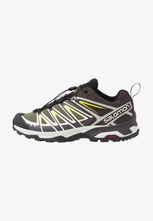 X ULTRA 3 - Hiking shoes - burnt olive/shale/acid lime