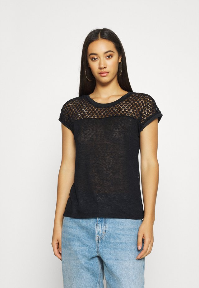 ONLRILEY MIX - T-shirt imprimé - black