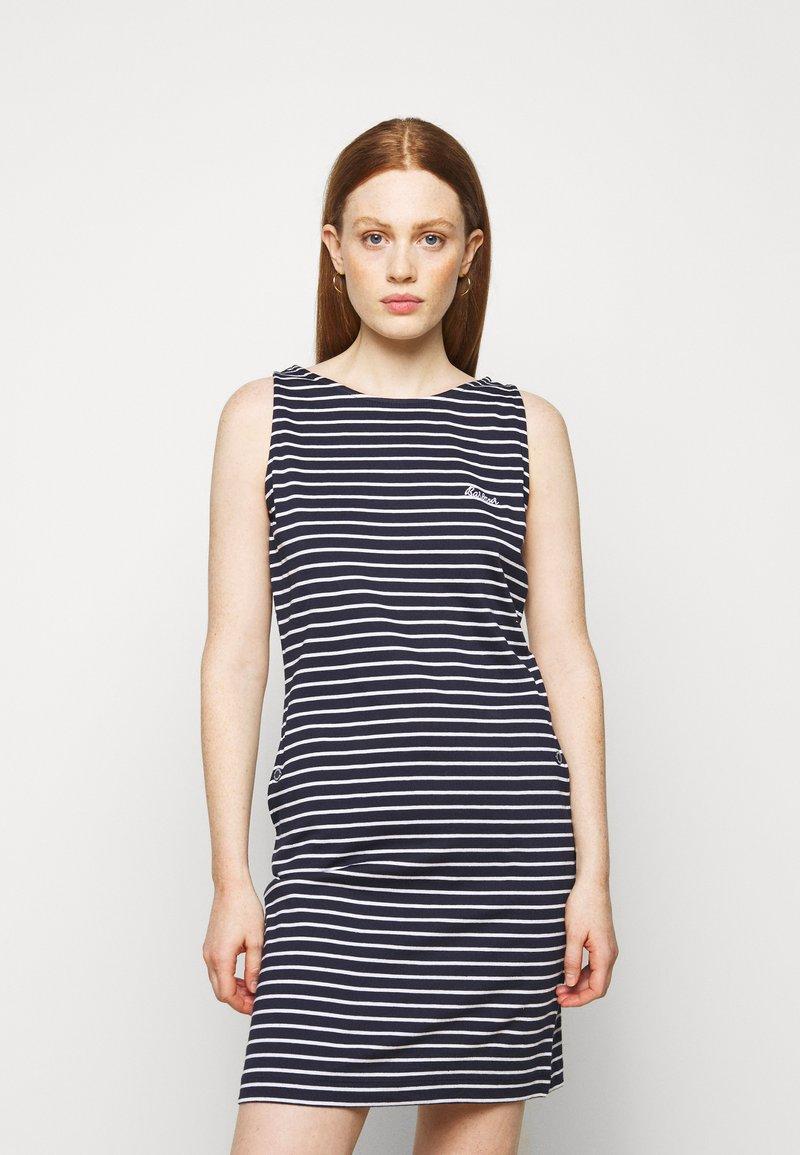 Barbour - DALMORE STRIPE DRESS - Sukienka z dżerseju - navy/white