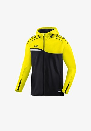Zip-up hoodie - schwarzgelb