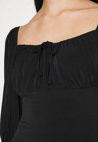 Miss Selfridge - PUFF SLEEVE MINI - Jerseykleid - black - 5