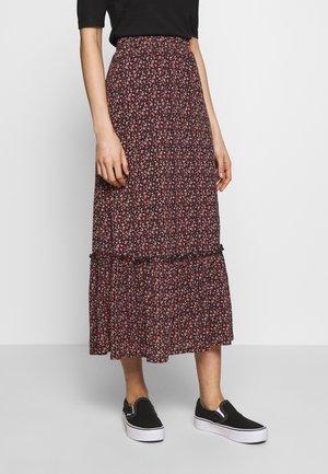 ONLPELLA SKIRT - Maxi skirt - black