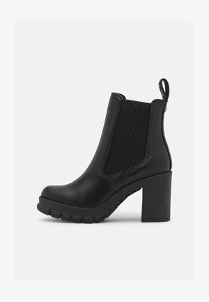 VEGAN SERLINA - Platform ankle boots - black