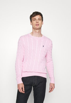 CABLE-KNIT COTTON SWEATER - Jumper - carmel pink