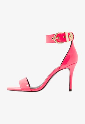 High heeled sandals - corallo fluo