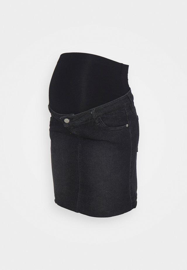 MINI SKIRT - Minigonna - washed black