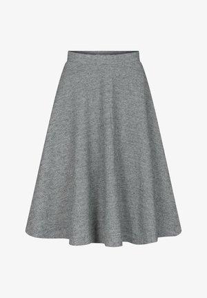 MIT PEPITAMUSTER - A-line skirt - grau