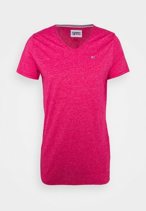 SLIM JASPE V NECK - T-shirt basique - pink