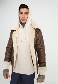 Alpha Industries - Faux leather jacket - brown - 0