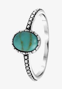 Lucardi - Ring - zilverkleurig/turquoise - 2