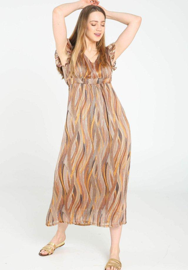 MIT WELLEN-PRINT - Korte jurk - caramel