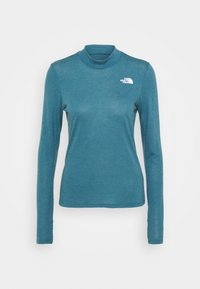 The North Face - W ACTIVE TRAIL WOOL L/S - Funktionsshirt - mallardblueheather - 3