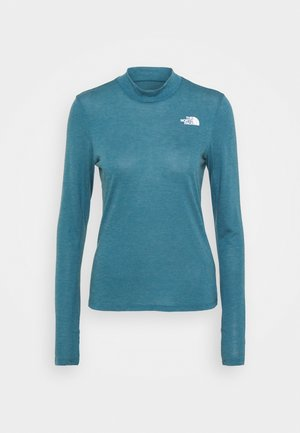W ACTIVE TRAIL WOOL L/S - Sports shirt - mallardblueheather