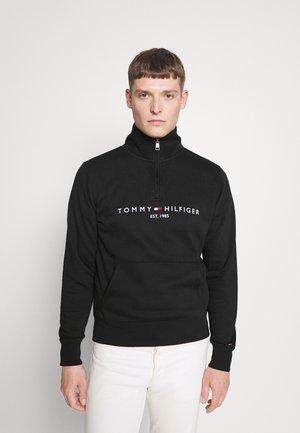LOGO MOCKNECK - Sweater - black