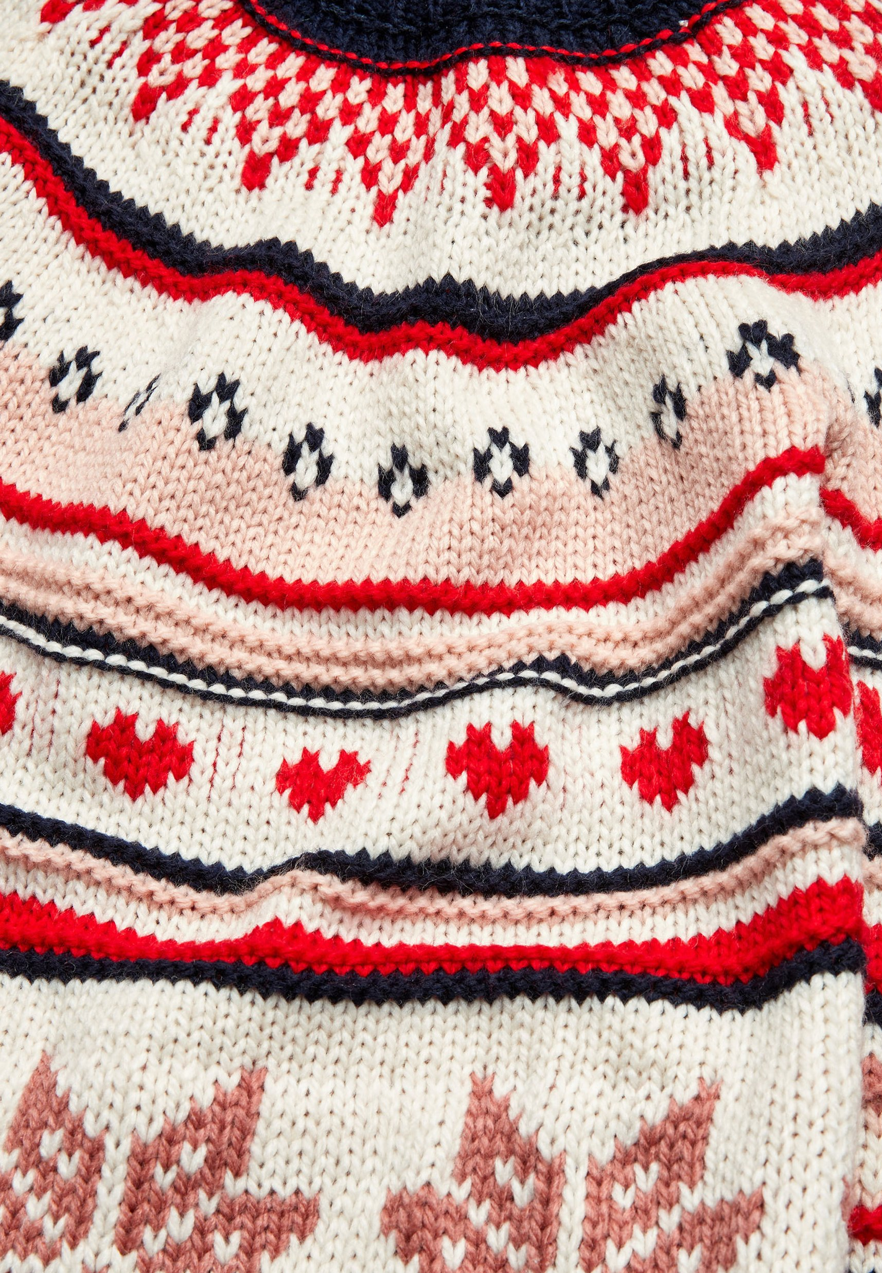 Next Snowflake Fairisle Pattern - Jumper Dress Off-white