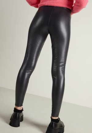 Leggings - Trousers - schwarz  - grey/black