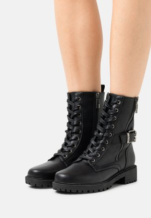 CAMPA - Lace-up ankle boots - black
