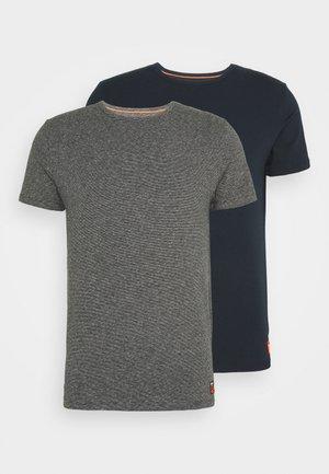 LAUNDRY SLIM TEE 2 PACK - Basic T-shirt - laundry navy/laundry black feeder