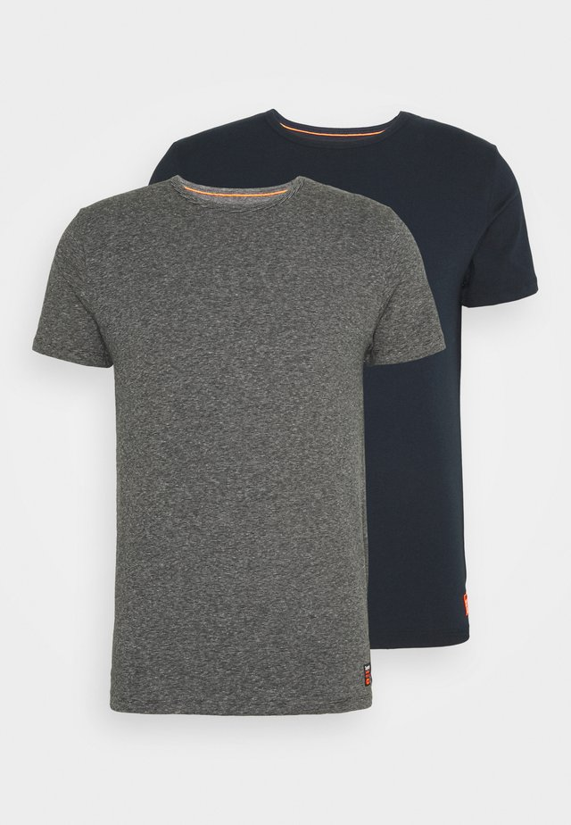 LAUNDRY SLIM TEE 2 PACK - Jednoduché triko - laundry navy/laundry black feeder