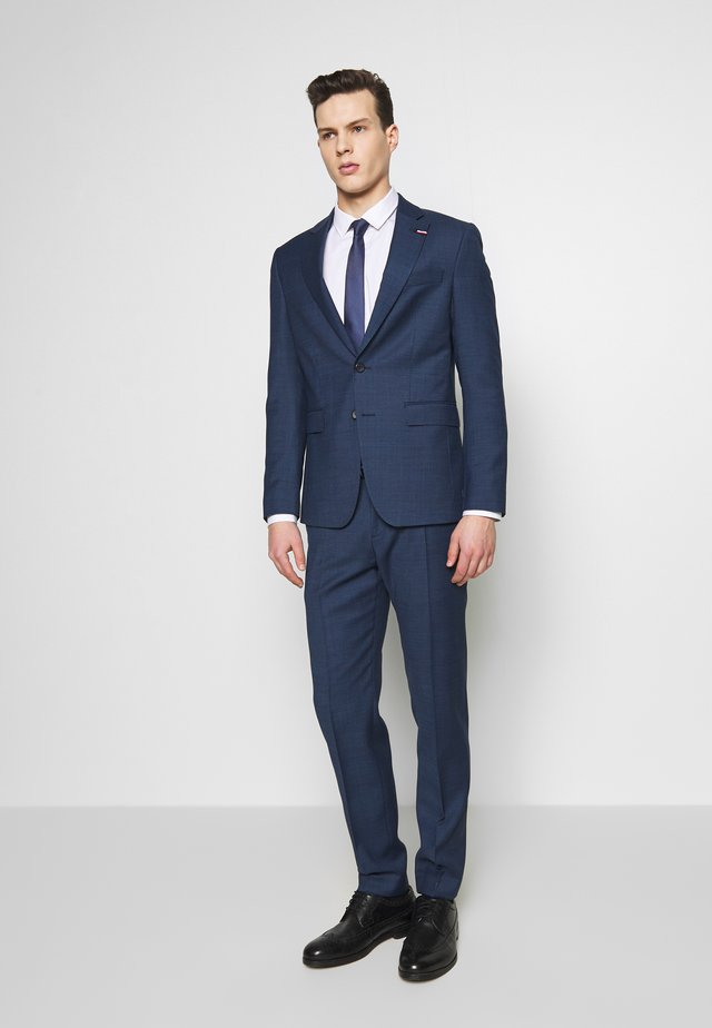SLIM FIT FAKE SOLID SUIT - Oblek - blue