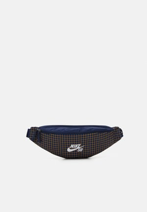 NIKE HERITAGE - Bum bag - midnight navy/white