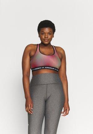 CROSSBACK MID PRINT - Medium support sports bra - black
