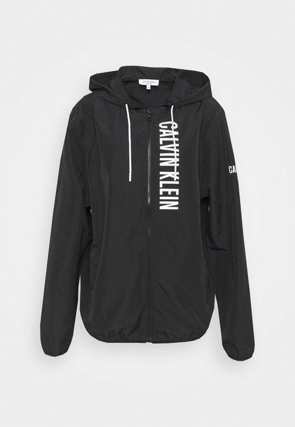 Calvin Klein Swimwear WINDBREAKER - Kurtka przejściowa - black/czarny Odzież Męska WNVA