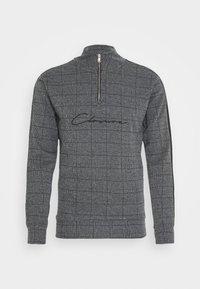 CLOSURE London - PANELLED CHECKED TRACKTOP - Sweatshirt - charcoal - 4