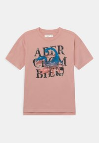 Abercrombie & Fitch - LOGOTAPE  - Print T-shirt - pink - 0