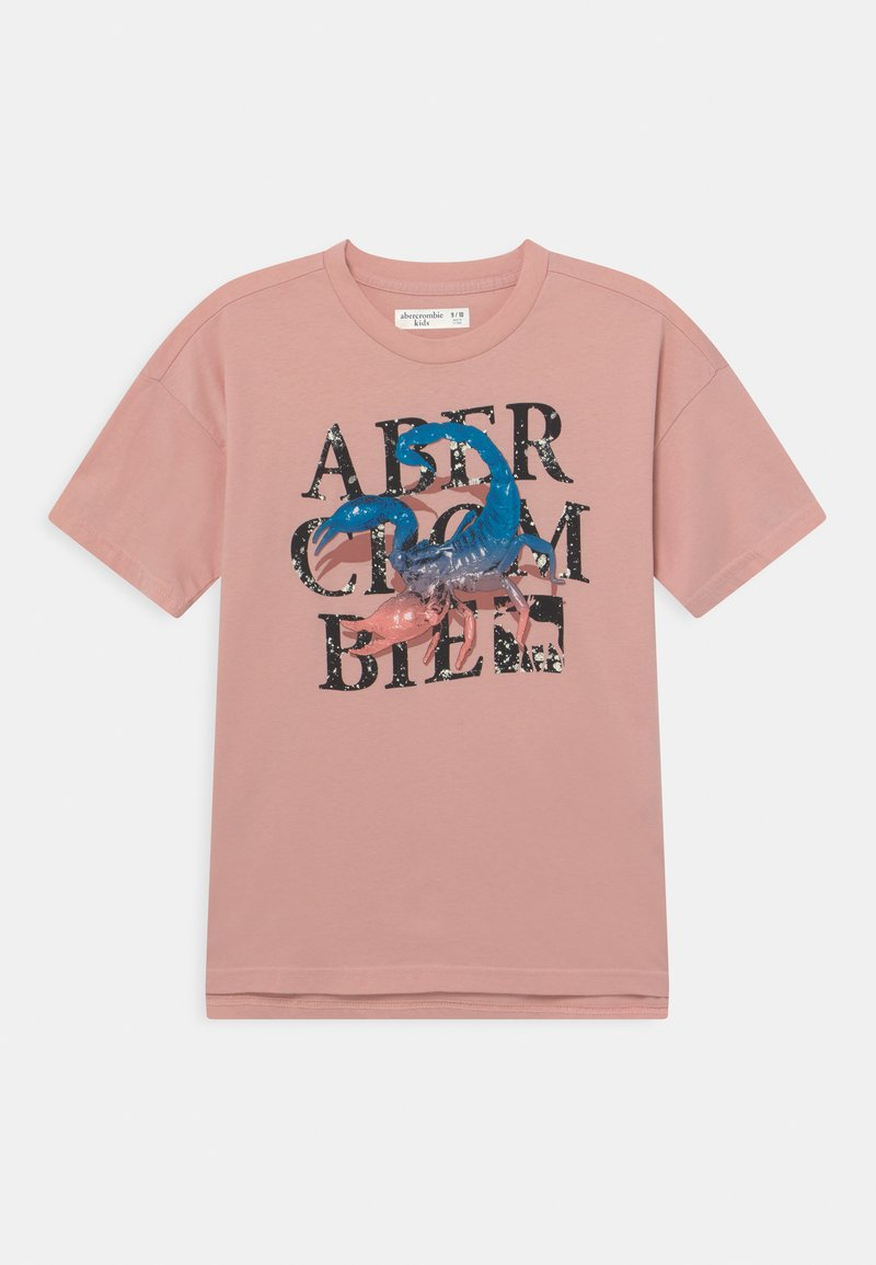 Abercrombie & Fitch - LOGOTAPE  - Print T-shirt - pink