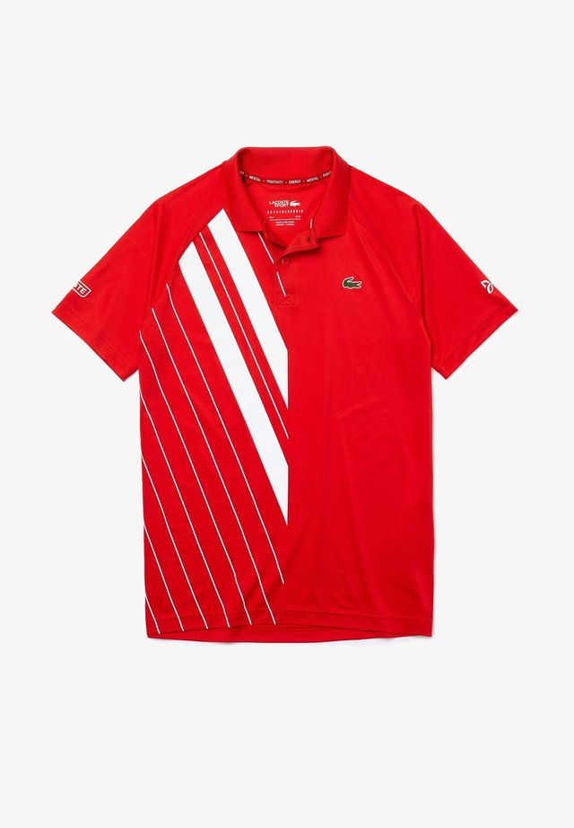 Polo - rouge / blanc