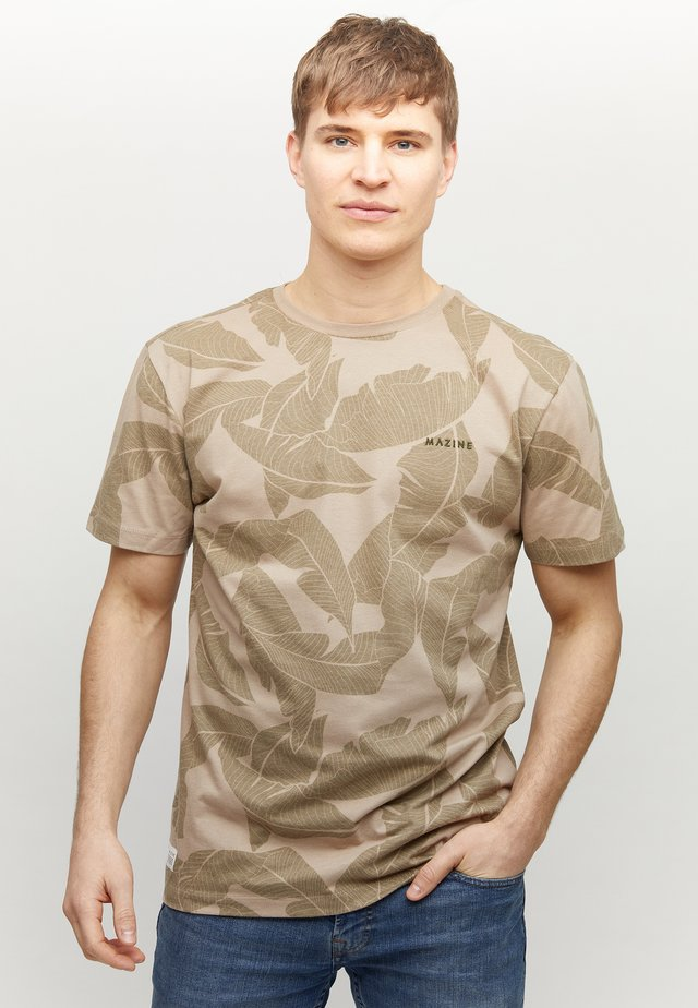 FINDON - T-shirt med print - tan