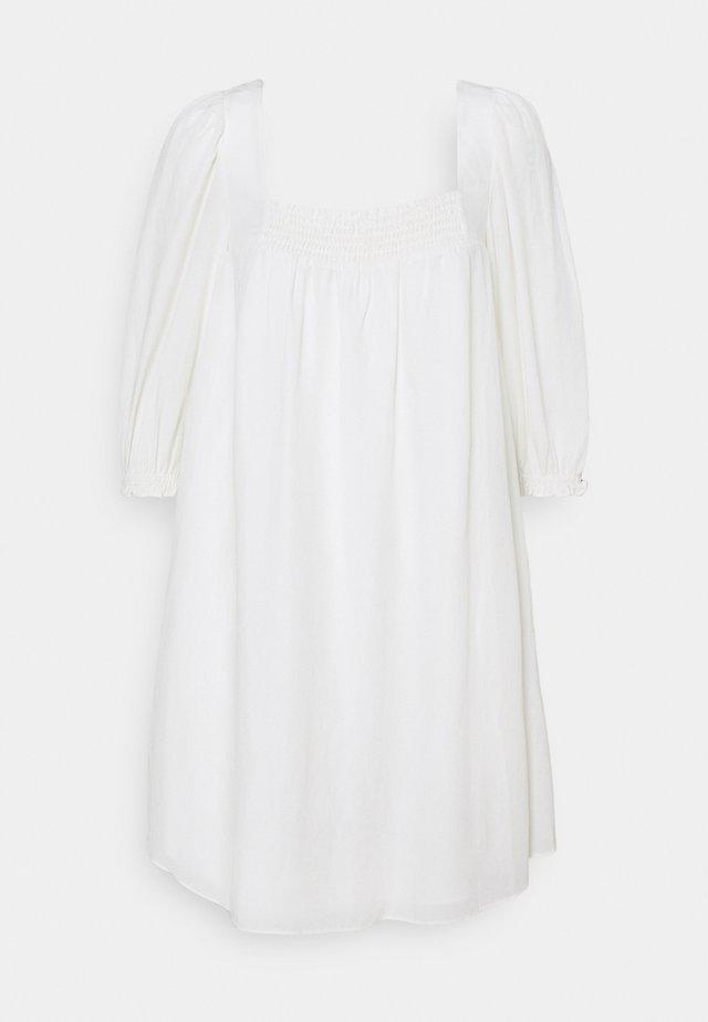ABBIE BABYDOLL SKATER DRESS - Day dress - porcelain