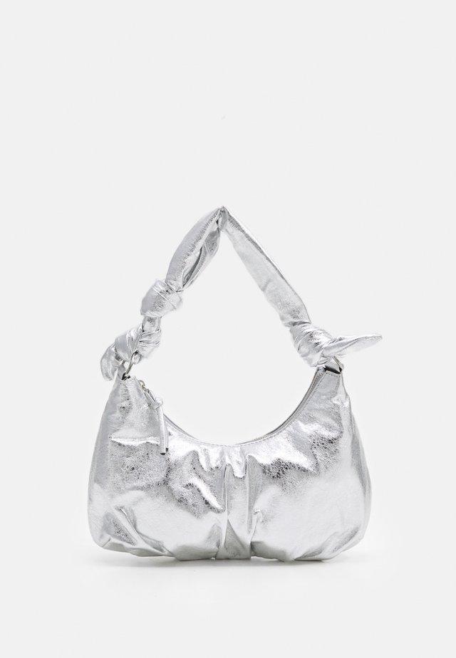 KNOTTED SHOULDER - Handbag - silver