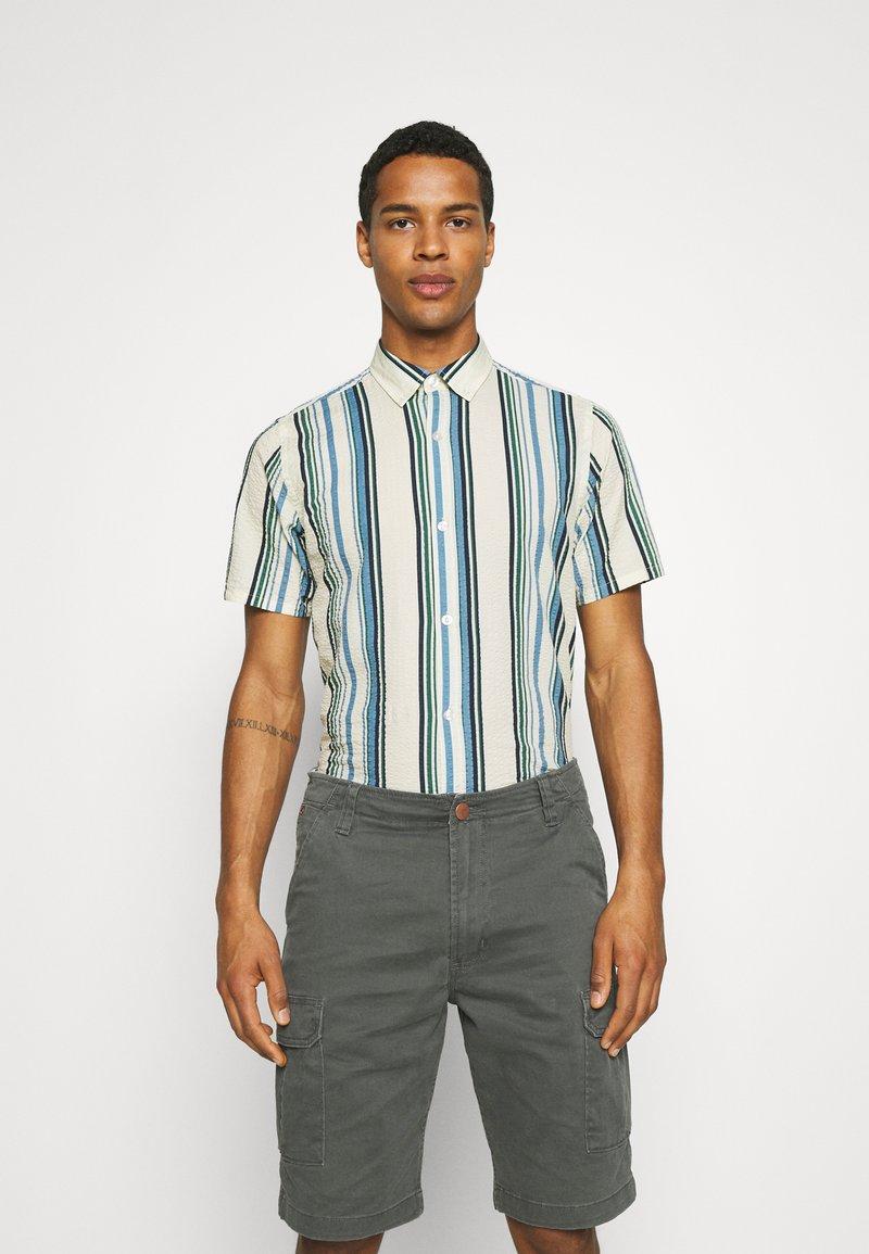 REVOLUTION - STRIPE - Shirt - blue/off-white