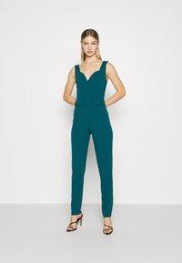 WAL G. - SERENITY PLUNGE - Jumpsuit - dark teal blue - 0