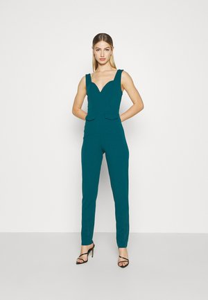 SERENITY PLUNGE - Jumpsuit - dark teal blue