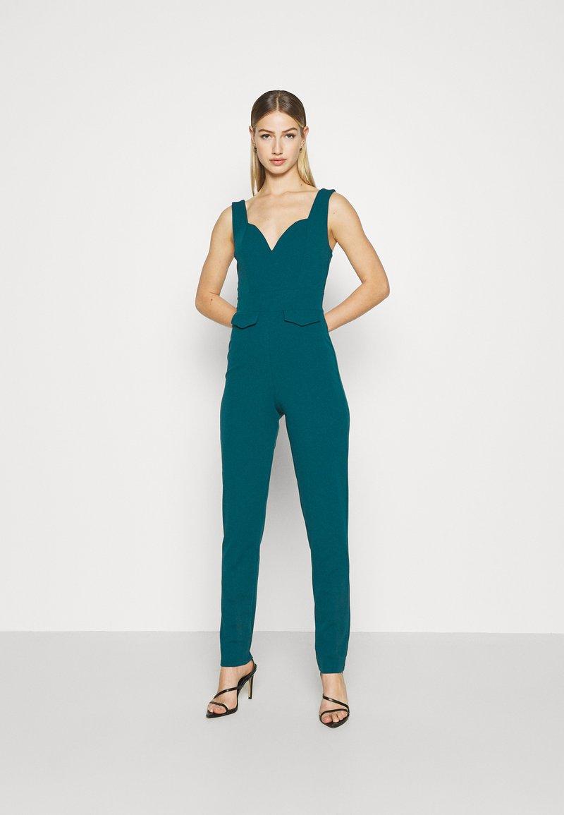 WAL G. - SERENITY PLUNGE - Jumpsuit - dark teal blue